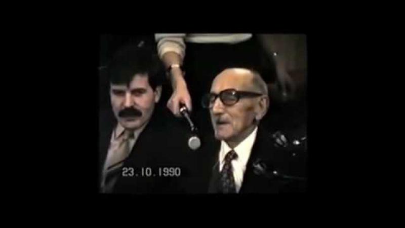 Nalchik 1990 Tevfik Esenç - the last speaker of the Ubykh language / Нальчик 1990г Тевфик Эсенч