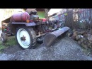 Ковш на самодельный трактор испытание на мелком щебне