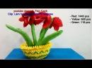 How to make tuberose flower by 3d origami - Làm hoa huệ origami 3d