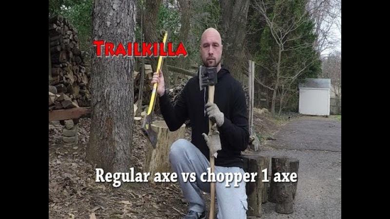 Regular axe vs chopper 1 axe