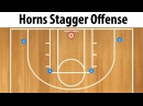 Horns Stagger Set Basketball Play