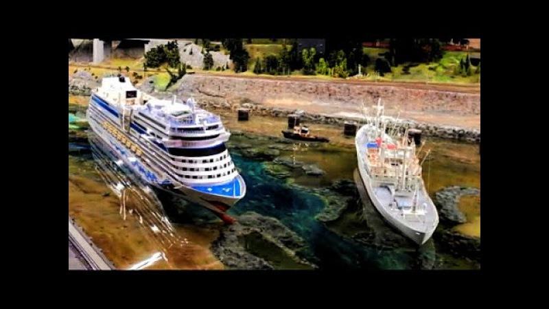 Hafengeburtstag im Miniatur Wunderland - RC Schiffe der IG Mikromodell vs. AIDA und Cap San Diego