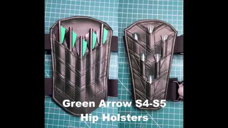 Green Arrow Cosplay - Making Custom Leg Holsters!