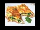 Восхитительный Завтрак за 5 минут Сырный Хрустящий Омлет Cheese omelette