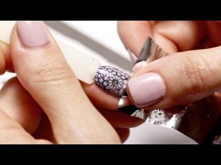 Штамповка ногтей - Как использовать фольгу для штамповки