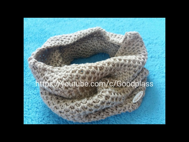 Шарф снуд, труба, хомут Вязание спицами узором Соты Knitting(Hobby)