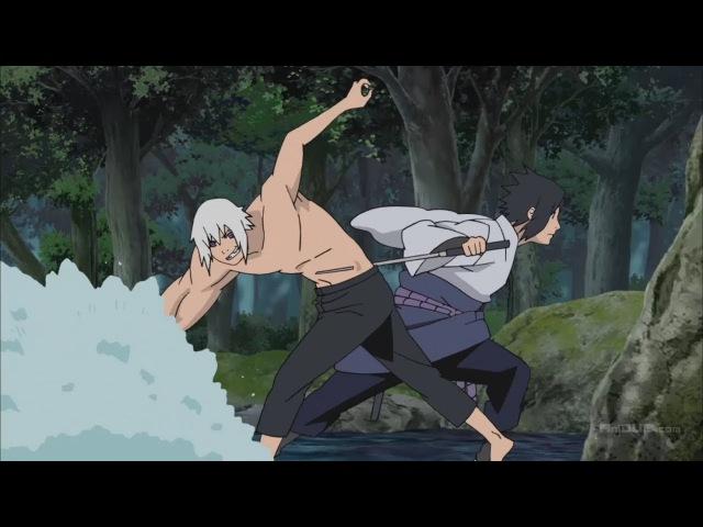 Саске и Карин против Суйгецу Карин скрытая сила