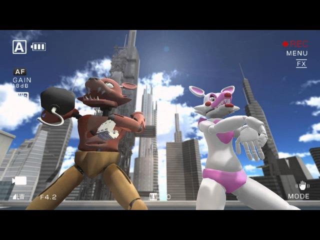 [MMD] FNAF: Oppa Gangnam Style Foxy x Mangle