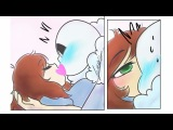 Undertale комиксы  Frans  Санс целует спящую Фриск  14+