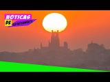 End of world Apocalyptic yellow sky and blood red sun rise above UK in strange phenomenon