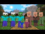 Zombie &amp Villager Life Full Animation I - Minecraft Animation
