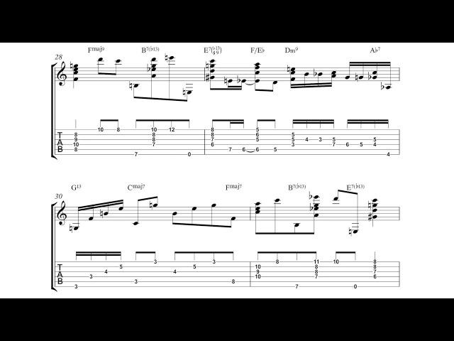 Joe Pass Summertime Solo Jazz Guitar Transcription