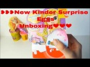 ❥❥❥New Kinder Surprise Eggs Unboxing! Peppa Pig Play Doh Surprise eggs Little Mermaid Family Fun❤❤❤