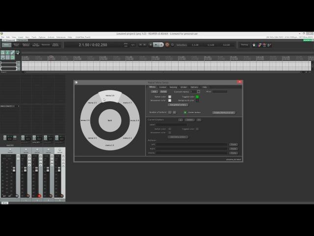 Radial Menu tutorial (Reaper script)