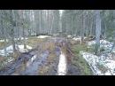 Урал лесовоз Вывозка леса по болоту Дорога из горбыля Новый мост через Глухую Вильву
