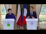Point de presse commun d'Emmanuel Macron et du Premier ministre polonais Beata Szydlo 23.11.2017