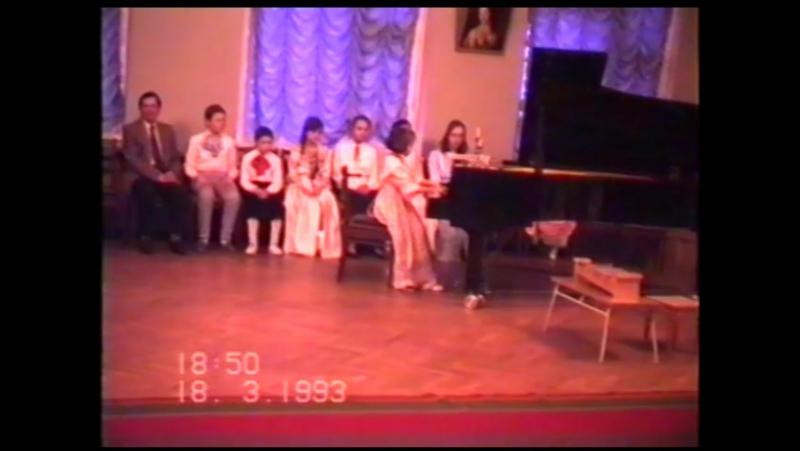 1993.03.18 КОНЦЕРТ МЛАДШЕГО ХОРА.П.И.ЧАЙКОВСКИЙ-ДЕТСКИЙ АЛЬБОМ.