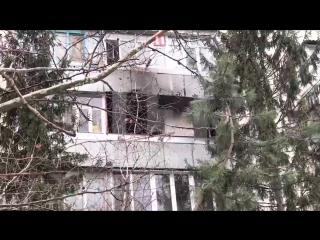 Опубликовано видео с места взрыва газа в пятиэтажке в Симферополе