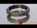 Кольцо Женское счастье. Обручальное. Голубые алмазы. Черненое серебро.