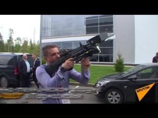 Концерн Калашников показал ружье REX-1, перехватывающее дронов