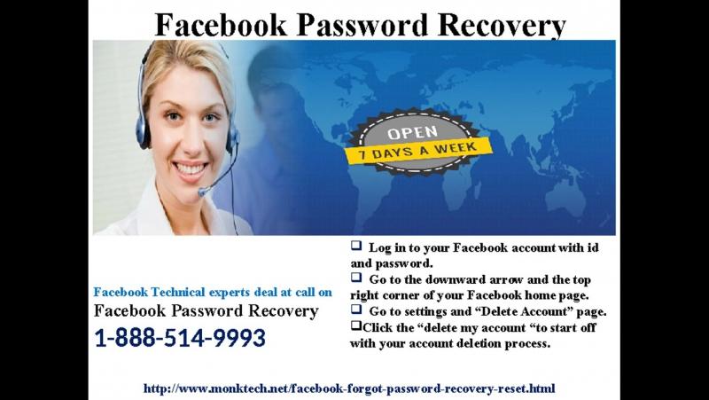 Get smart with Forgot my Facebook Password 1-888-514-9993