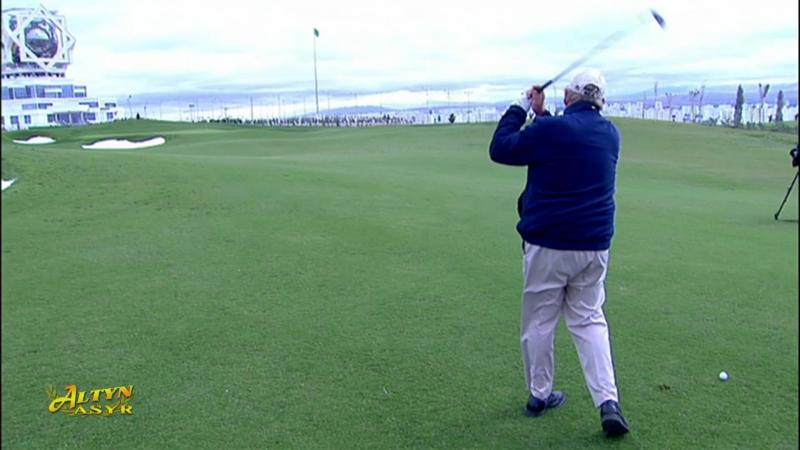 Ýurdumyzyň ilkinji golf klubynda ýaryş geçirildi