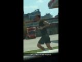Harry out jogging in Nashville