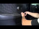 Как снять карту двери на Nissan Note