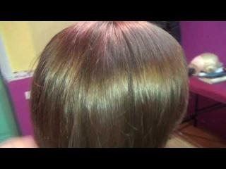 Комбинированный прикорневой объем волос