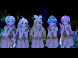 【MMD】 気まぐれメルシィ/Kimagure Mercy 【Miku Luka Rin Haku IA Thai Dress】