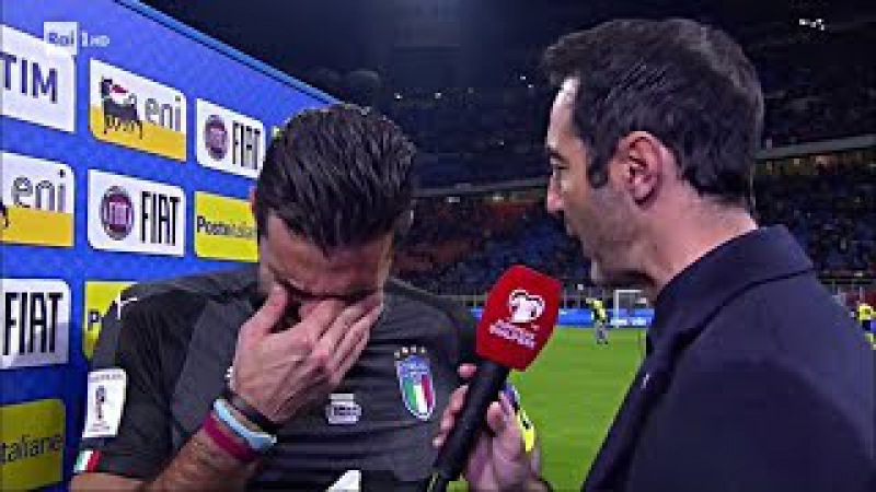 ITALIA-SVEZIA 0-0 Intervista BUFFON PIANGE A DIROTTO - ITALIA FUORI ※ 13.11.2017 Spareggio Mondiali