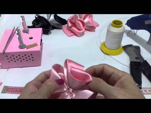 Como fazer laço com fita de cetim DIY , PAP ,TUTORIAL laço mil faces1