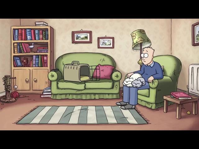 Кот саймона в цвете OFF TO THE VET FULL FILM A Simon's Cat Special Цветной фильм о КОТЕ САЙМОНА.