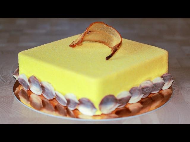 Муссовый грушевый торт с франжипаном   Pear Mousse Cake with Frangipane