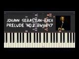 Johann Sebastian Bach - Prelude No.2 BWV847 - Piano Tutorial by Amadeus (Synthesia)