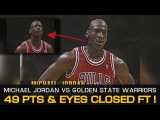Michael Jordan Shoots Free Throw With Eyes Closed! - 49 Pts Vs Golden State Warriors (11.24.1992)