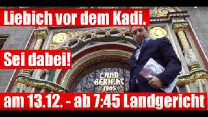 2017 12 13 - ab 7:45 - Sven Liebich vor dem Landgericht Halle unterstützen