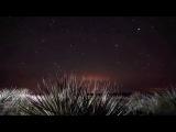 Красивое видео. Звездное небо и белый снег! White snow! HD