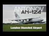 Giant Antonov An-124 Aircraft - Maximus Air Cargo - London Stansted Airport - Aviation Video