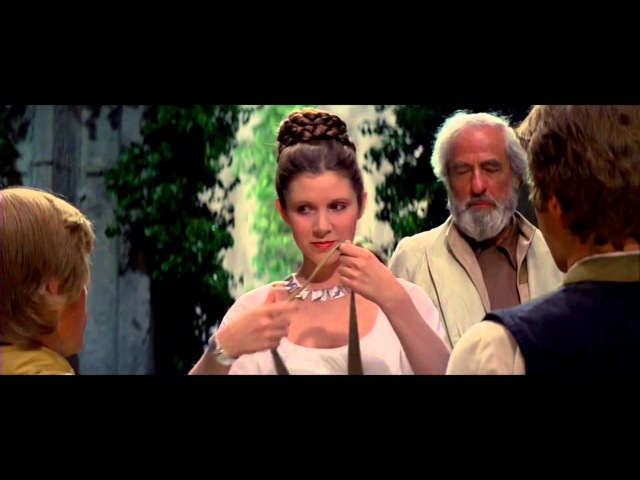Star Wars IV A new hope Final Scene The Throne Room and End Title