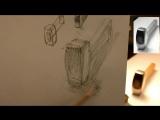 Обучение рисунку. Введение. 13 серия.Общая светотень