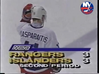 Darius Kasparaitis owns Mark Messier / Дарюс Каспарайтис отправил в полет Марка Мессье, 1993-й