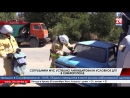 Сотрудники МЧС успешно ликвидировали условное ДТП в Симферополе Крымские спасатели провели учения в Симферополе. Согласно легенд