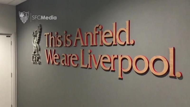 Todo preparado en Anfield 💪⚽