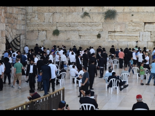 молитвы евреев у стены плача