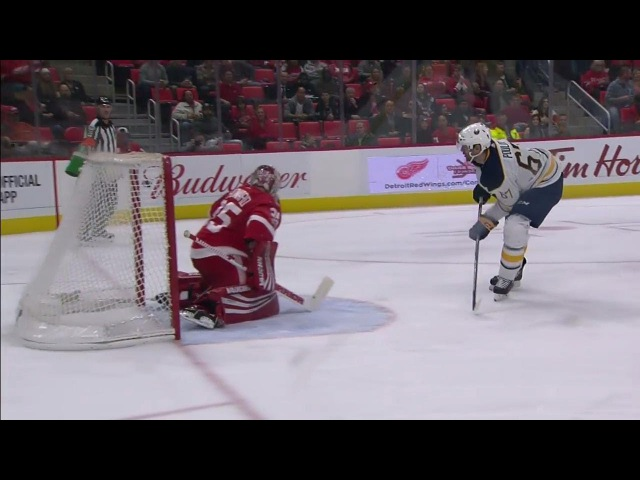 Sabres come extremely close to scoring with two great chances moments apart