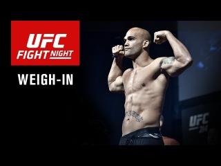 Прямая трансляция показательной церемонии взвешивания участников UFC on Fox 26.