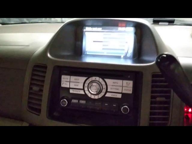 Nissan Serena 24(2001-05) - установка оригинальной мультимедиа 2017 года от Nissan