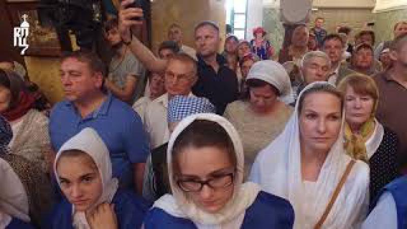 Предстоятель Русской Церкви совершил утреню всенощного бдения в Константино-Ел...
