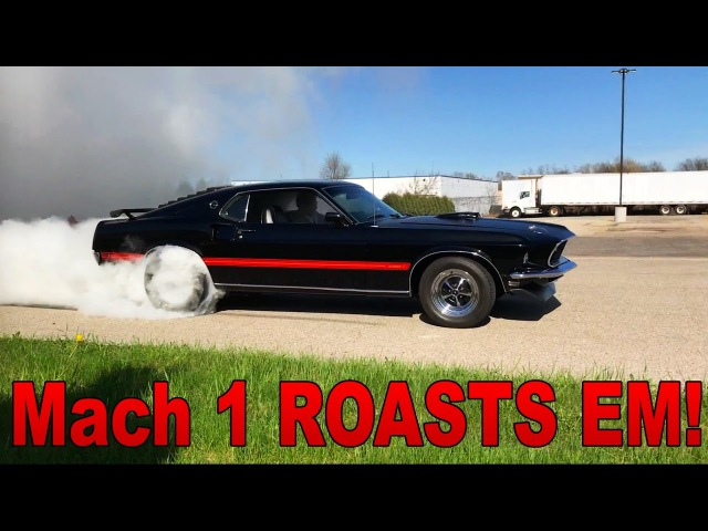 1969 Mustang Mach 1 ROASTS The Tires! - BURNOUT